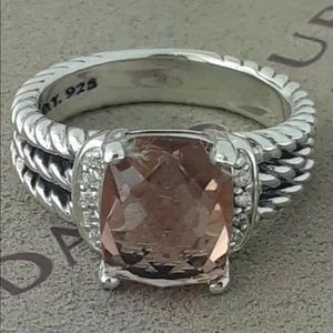 David Yurman Morganite Ring! Size 7!